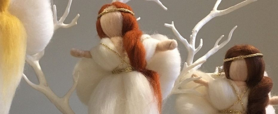 Needle-felted Christmas Tree Decorations with Hanne Crank